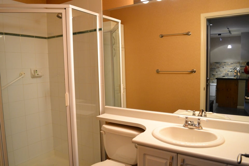 443 Town Plaza, one of two bathrooms